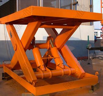 HTJD portable Cargo lifting platform stationary scissor lift table