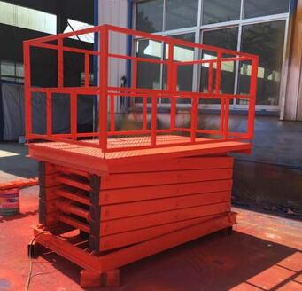 ISO9001 Anti-skid Cargo lifting platform stationary scissor lift table