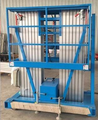 Electric Motor competitive 6 m double mast aluminum lift for sale