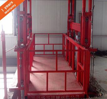 1000kg 3kw hydraulic lift platform type guide rail for elevator