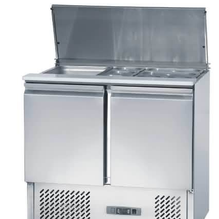 Full Stainless Steel Luxurious Refrigerated Counters for Salad