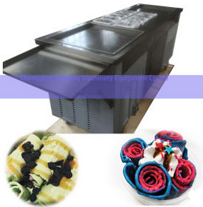 Thailand Rolled Double Flat Pan Fried Ice Cream Machine
