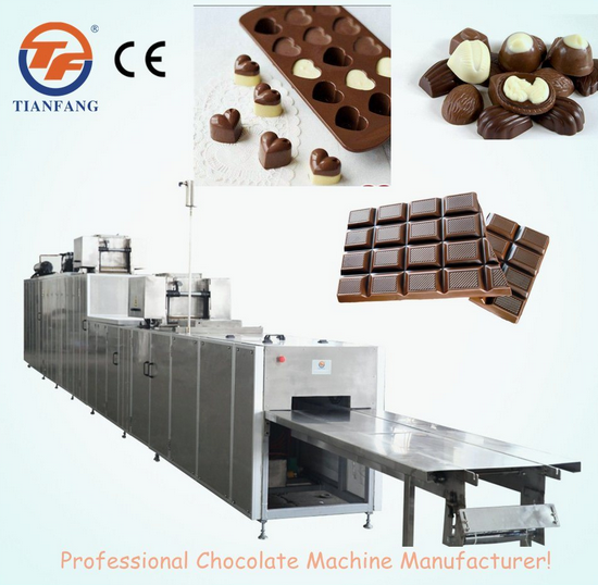 Automatic Chocolate Moulding Machine with Two Depositors