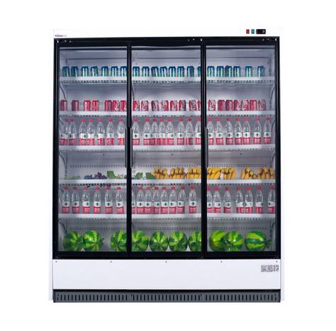 High Quality Supermarket Glass Door Beverage Freezer