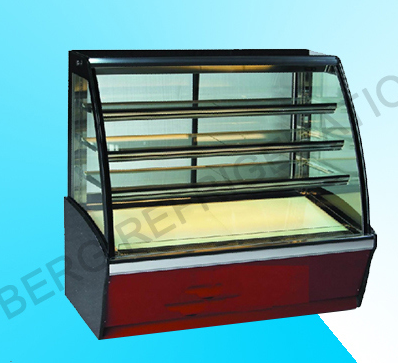 European Style Four Layers Cake Display Refrigerator with Ce