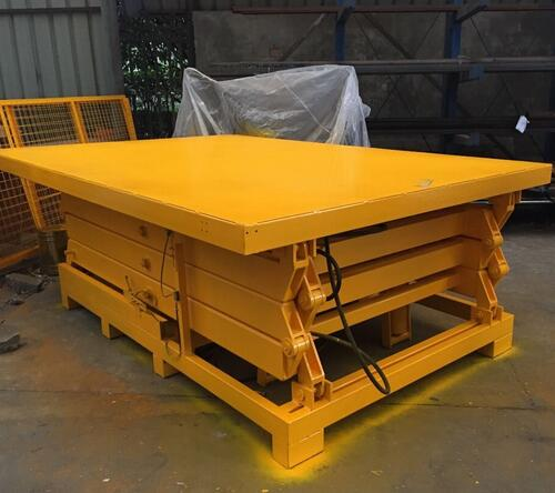 SJG2-1.2 1-10ton Single Scissor Lift Stationary Lift Table Work Platform