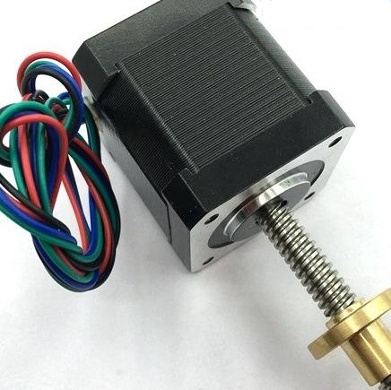 NEMA 17 Stepper Motor with Tr8*2 Lead Screw Shaft for 3D Printer
