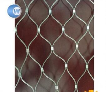 304/316 Ferruled Ss Ferrule Rope Woven Mesh