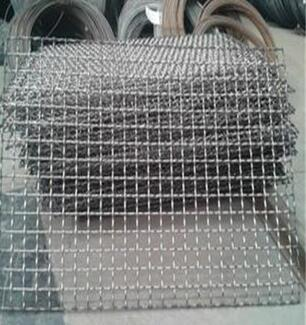 closed edge square woven crimped wire mesh