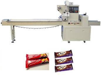 YB-250X Automatic chocolate bars cookies dessert pastry packing machine