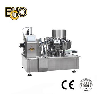 Automatic Rotary Vacuum Packing Machine for 4-side-seal