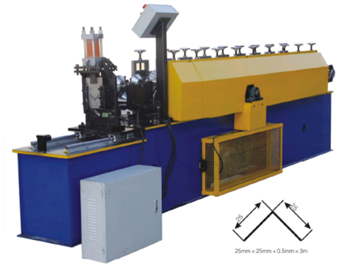 Angle steel roll forming machine with punching