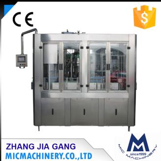 MIC12 12 1 Top quality glass bottle alcohol drink beverage fully automatic filling machine