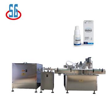 SG Small Plastic Bottle Filling Capping Labeling Machine For Eye Drops E-cig Liquid
