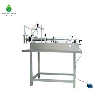 horizontal semi automatic daily chemical industry filling machine