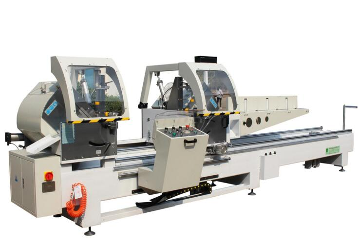 LJJ2AX-500*2400 aluminum extrusion double head cutting off machine