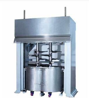 Vertical dough mixer for soda biscuit and cracker biscuit