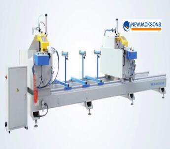 PVC window frame cutting equipment / UPVC window making machine