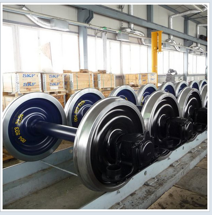 TSI certified BA004 railway wheelsets with bearing and axle box for Y25 bogie railway wagon wheelsets BA002 and BA005
