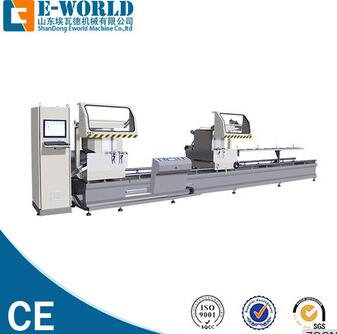CNC Double head Cutting Saw for aluminum and pvc profiles
