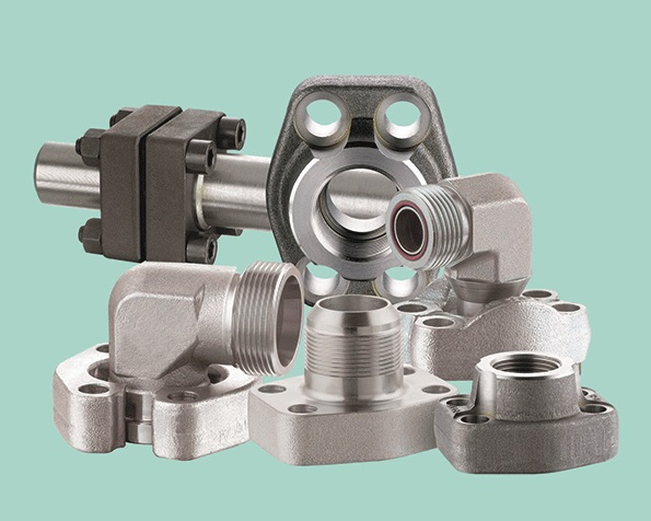 Hydraulic SAE flanges to ISO 6162 and SAE J 518 C