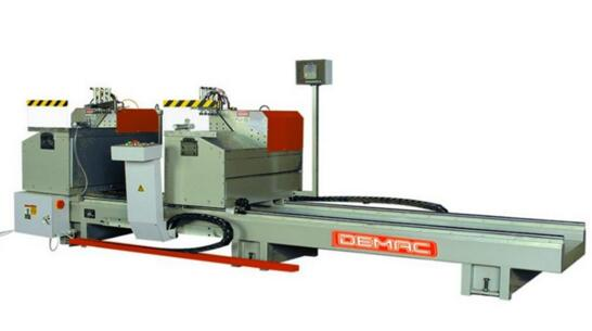 Factory supplier Double head aluminum profile angle cut 45 degree band saw machine
