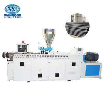 SJZ Good Quality Double Screw Plastic PVC Pipe Extruder Machine