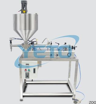 TVFA Horizontal Liquid Filling Machine With Hopper And Mixing