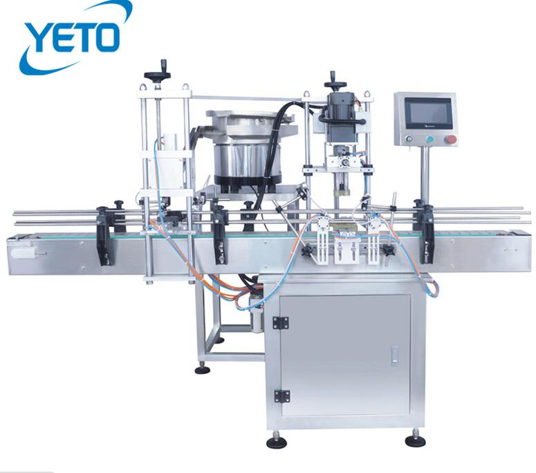 Automatic screw capping machine with automatic caps feeding,spray pump capping machine