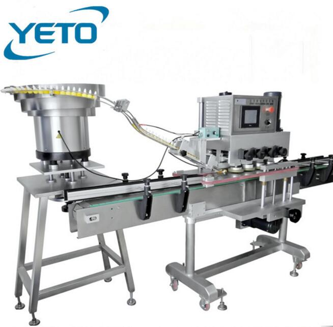 Professional linear automatic capping machine,high speed bottle cap screwing machine