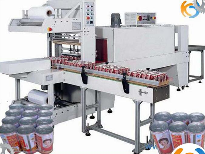 Automatic bottles heat shrink packing machine by beverage packing machinery