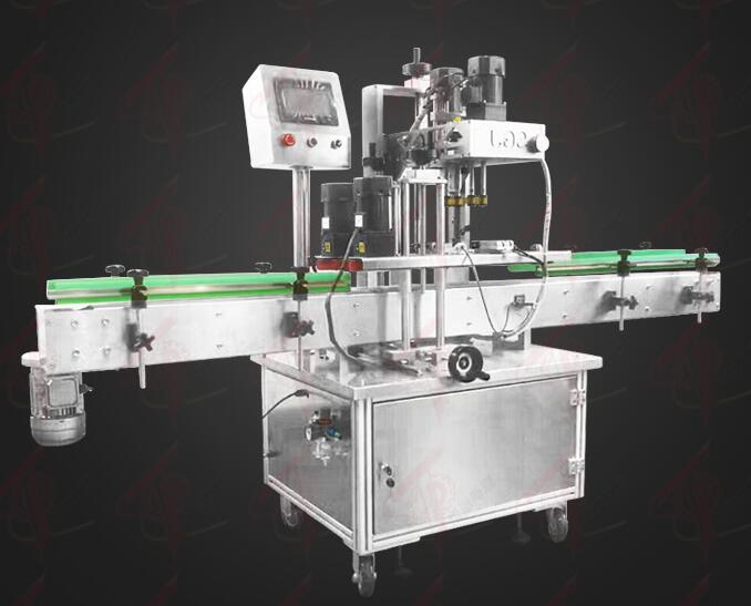High quality automatic plastic bottle glass jar screw capping machine
