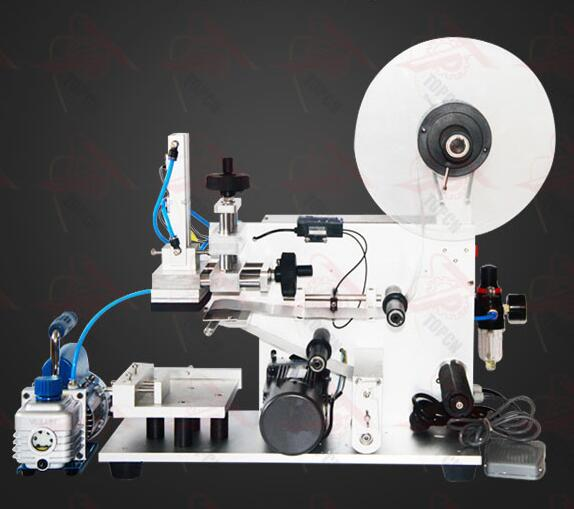 Semi automatic pet square bottle manual labeling machine