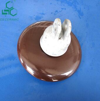 Disc suspension insulator electrical porcelain insulators for high voltage application