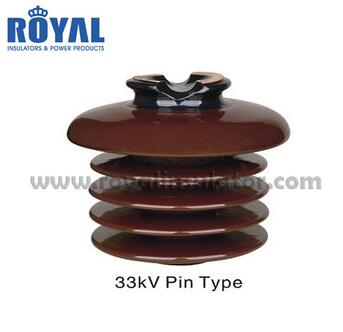 33kV ceramic porcelain pin post porcelain insulator