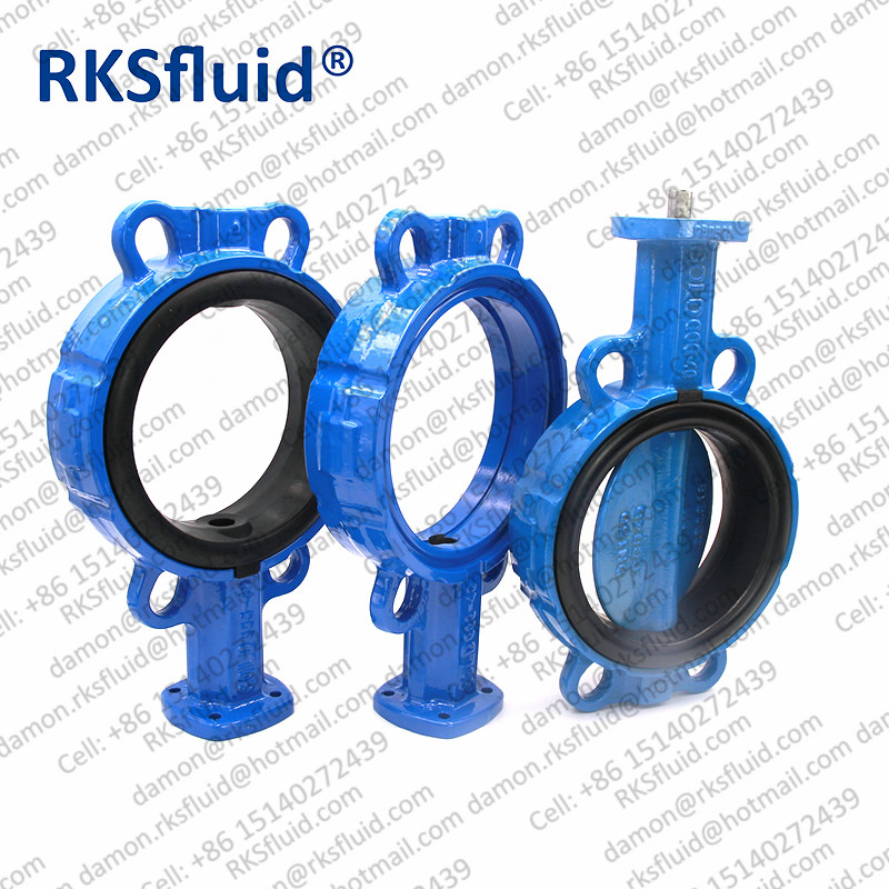 Center line nylon11 EPDM GGG50 casting ductile iron wafer lug butterfly valve
