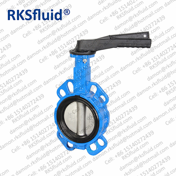 RKSfluid factory Ductile iron stainless steel disc butterfly valve for fluid control