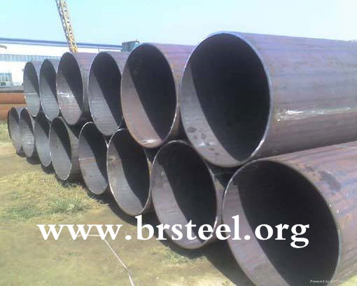 MS erw welded black steel pipe