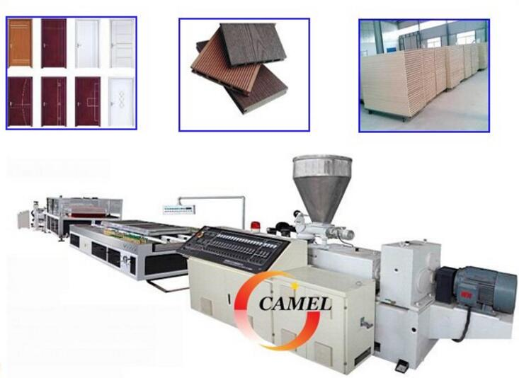 The useful PVC door board extrusion line double screw extruder