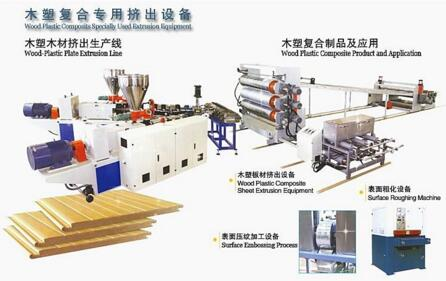 Wood Plastic Composits Specially Used Extrusion Equipment