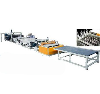 PVC/ABS/PC Wave Plates Extrusion Machine