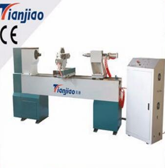 TJ1530 cnc wood lathe cnc turning lathe with door and art window
