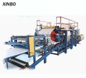 Color steel high quality eps / rock wool roll forming sandwich panel machine
