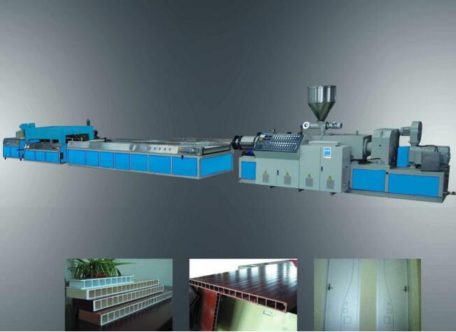 Low power consumption XPE crosslinked foamed extrusion line