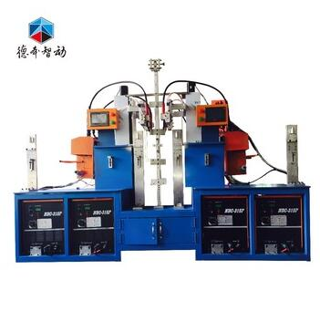 Saleable double-station automatic upright column welding machine for storage shelves
