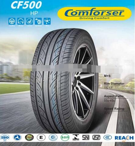 Comforser brand Passenger tyres new car tires