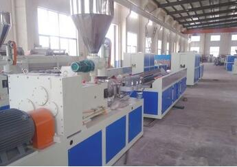 CE ISO wood plastic composite door production line