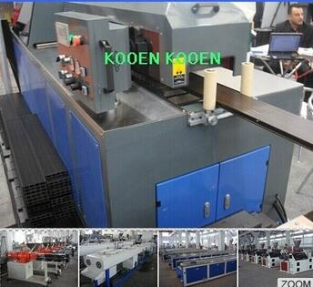 China WPC wood plastic machinery plant production line extruder extrusion line