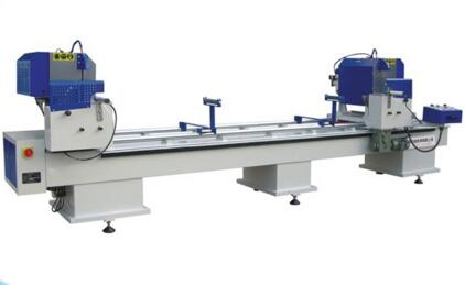 industry alloys aluminum square hollow tube double head cutting saw machine