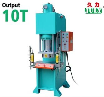 Good quality JULY door security hydraulic foam punching press c frame 10t